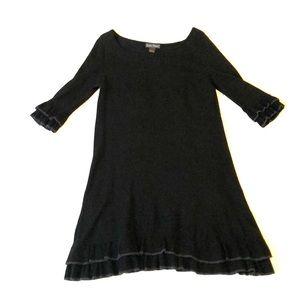 Knit dress. Black. Large.